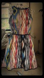 Fire Los Angeles multi color cotton dress size m